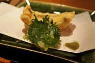 天ぷら:アナゴと大葉.JPG